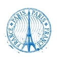 Paris logo design template Eiffel Tower vector image vector image