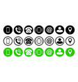 phone icons symbol call hotline online service vector image