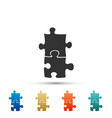 piece of puzzle icon isolated on white background vector image vector image