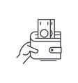 profitable business line icon concept profitable vector image vector image