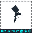 pulverizer for painting icon flat vector image