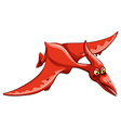 Red dinosaur flying in the sky vector image vector image