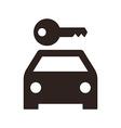 Rent a car sign vector image