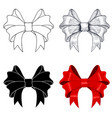 ribbon bows outline image sketch silhouette vector image