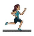 running woman vector image vector image