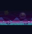 seamless alien landscape view fantasy cartoon vector image vector image