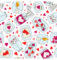 seamless pattern with cute jam jar perfect vector image vector image