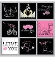 set Valentines cards vector image vector image