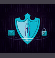 shield with envelope and padlock vector image