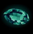 shiny beautiful alexandrite vector image vector image