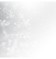 Snow fall with bokeh abstract grey background vector image vector image