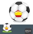 soccer ball spain euro vector image vector image