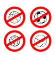 stop sport games prohibited football red vector image vector image