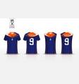 t-shirt sport mockup template design vector image vector image