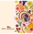 Thanksgiving Day Decorations vector image vector image