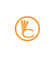 three year warranty logo symbols hand vector image