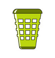 trash cartoon icon in white background vector image