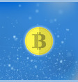 yellow bitcoin icon crypto currency concept vector image