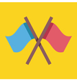 Crossed Flags Icon vector image