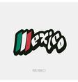 Mexico script hand lettering vector image