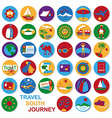 icons set travel vector image