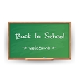 Back to school Wrote in chalk on blackboard vector image