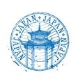 Japan logo design template temple drawn in vector image