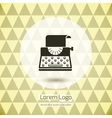 Typewriter logo icon vector image