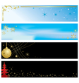 - set of christmas color banners vector image