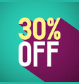 30 off retro flat design label thirty percent vector image vector image