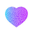 abstract heart symbol blue and purple color heart vector image vector image