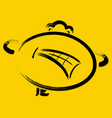 angry emoticon on yellow background eps10 vector image vector image