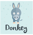 animal donkey cartoon donkey background ima vector image vector image