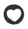bold stamp heart grunge texture vector image vector image