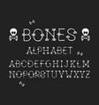 bones regular font alphabet vector image vector image