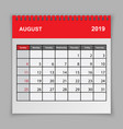 calendar planner design template vector image vector image