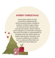 Card with Christmas tree and gifts vector image vector image