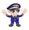 cartoon airplane pilot vector image