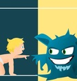 Child and monster vector image vector image
