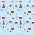 christmas fair pattern happy people shopping vector image