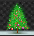 christmas tree dark transparent background vector image vector image