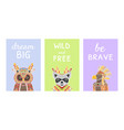 collection cards with inspirational quotes and vector image vector image