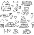 collection of element wedding doodles vector image vector image