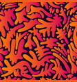 colorful psychedelic seamless pattern pattern vector image vector image