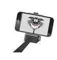 comical cat selfie vector image vector image