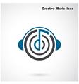 creative abstract musical design logo design vector image