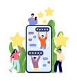 customer feedback supporting service feedbacks vector image vector image