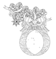 cute fairy doodle christmas bells vector image vector image