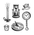 different types clocks vector image vector image