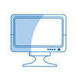 drawing monitor screen plasma device icon vector image vector image